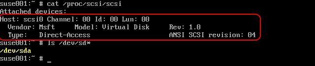 Hyper-V Linux IC scsi